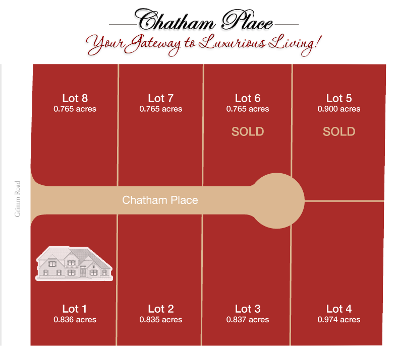 Chatham Place lot map